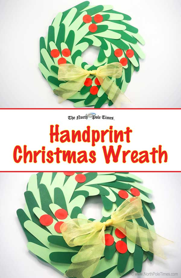 [Hand Print Christmas Wreath]