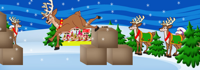 [Rudolph Builds Makeshift Course ]